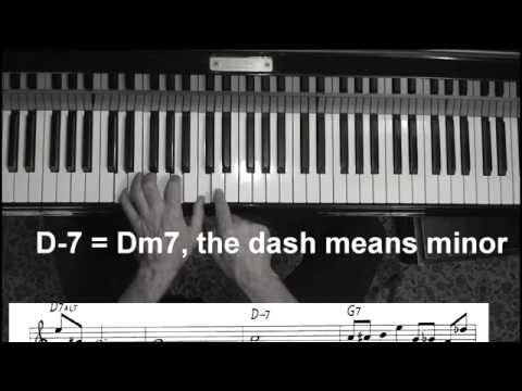Jazz piano 101 Take the A Train lead sheet, chords