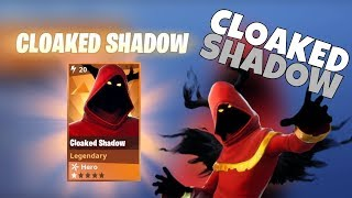 Fortnite NEW Cloaked Shadow Skin Gameplay LIVE! - Aggressive PS4 Player- Interactive Streamer!