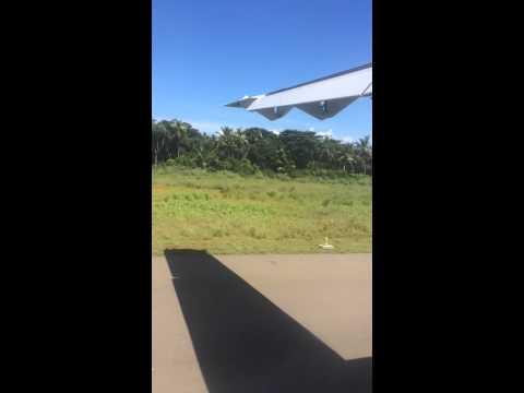 Landing at Dharavandhoo airport.