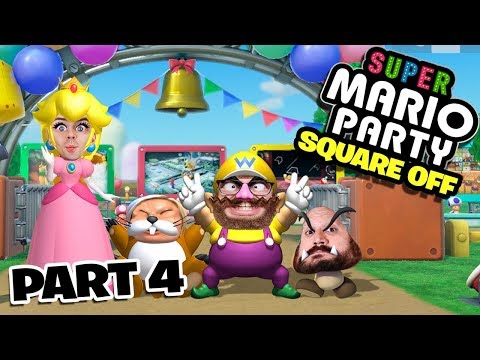 Super Mario Party Square Off Mode Part 4 - Funhaus Gameplay