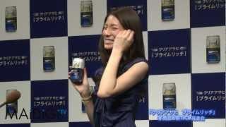 女優の松下奈緒さんが3月7日、東京都内で行われたアサヒビールのアルコ...