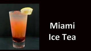 Miami Beach Ice Teal Drink Recipe Cocktail