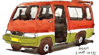 Bandung Travelogue Sketchbook