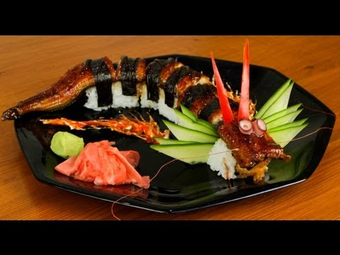 Dragon Sushi Roll Recipe - Japanese Food (delicious)