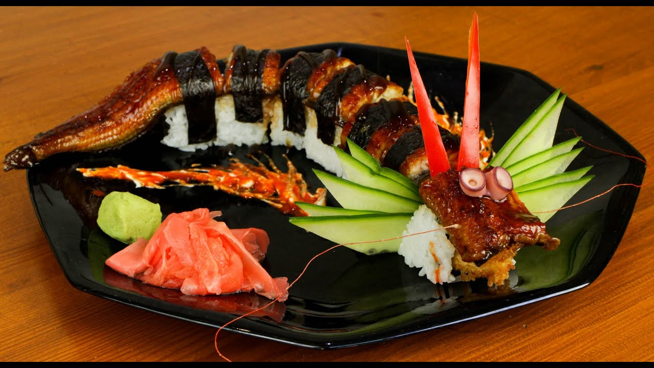 Dragon sushi roll recipe japanese food delicious youtube forumfinder Gallery