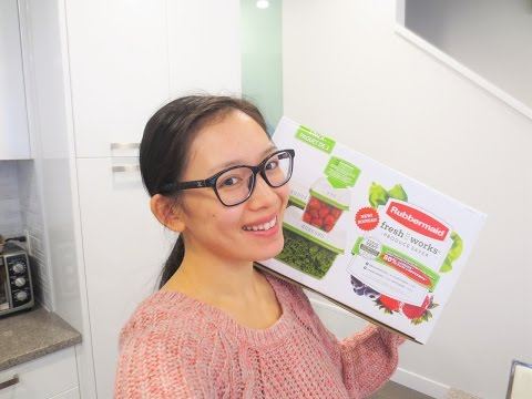 RUBBERMAID FRESHWORKS PRODUCE SAVER REVIEW! - DafyneMeBella