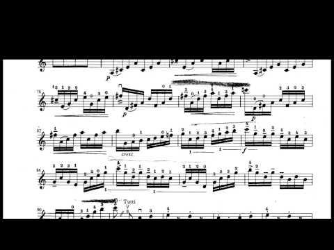 Vivaldi Concerto in A Minor third movement violin sheet music