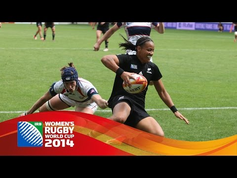 Top tries from Women's Rugby World Cup 2014 final round