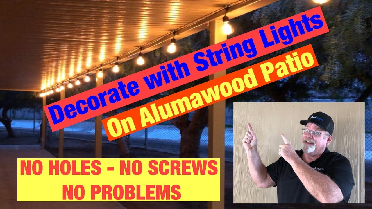 string lights on alumawood patio cover