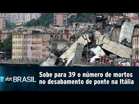 Sobe para 39 o número de mortos no desabamento de ponte na Itália | SBT Brasil (15/08/18)