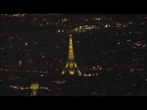 Eiffel Tower! Air France Airbus A321 Landing Paris CDG