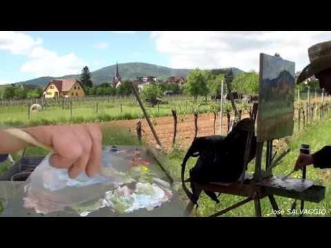 José SALVAGGIO plein air painting 14 Bernardswiller