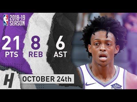 De'Aaron Fox Full Highlights Kings vs Grizzlies 2018.10.24 - 21 Pts, 6 Ast, 8 Reb!