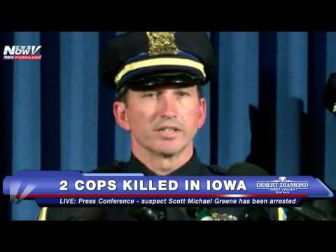FULL PRESS CONFERENCE: Two Iowa Officers Ambushed and KILLED, Suspect ARRESTED - FNN