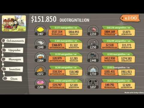 AdVenture Capitalist GamePlay #58 RESET #53 1,1 quindecillion AI's