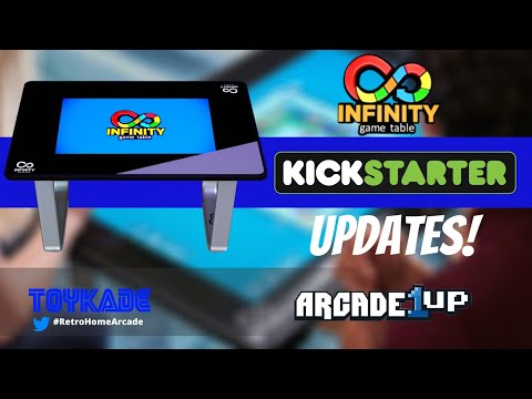 Arcade1UP - Infinity Game Table Kickstarter Update + Asmodee announcement + Battery Support from ToyKade