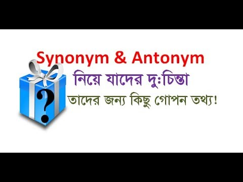 How to solve Synonym and Antonym