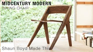 Building a Midcentury Modern Dining Chair - Shaun Boyd Made This