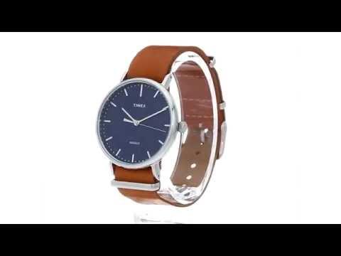 1a6c37136 Timex Weekender Fairfield Leather Slip-Thru Strap SKU:8783472 - YouTube