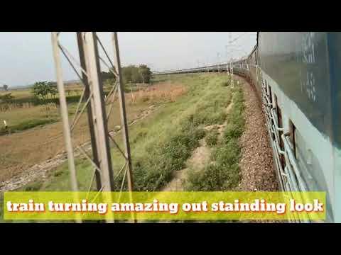 Train Beautiful Amazing Look !! Train Turned  Outstanding !! Rail Gadi !!((Jo Aaye Wo Dikhaye ))!!RJ