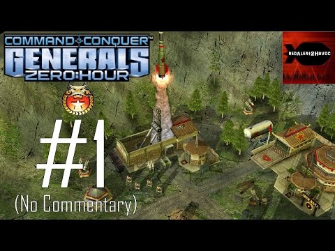 Command & Conquer: Generals Zero Hour China Campaign Playthrough Part 1 (No commentary, Mission 1)