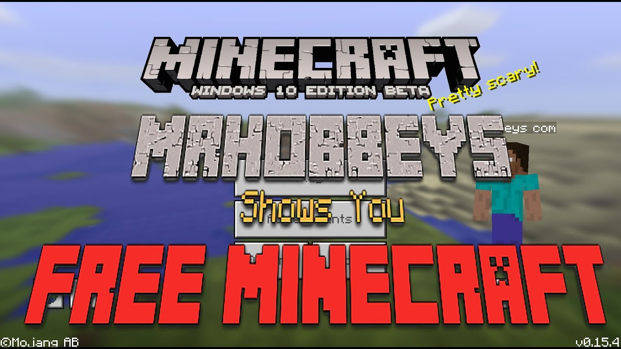 how to get windows 10 minecraft free