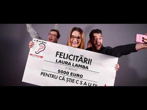 Laura din Constanta a castigat 5000 euro la CSAUD!