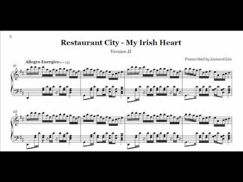 Restaurant City - My Irish Heart Piano (audio + sheet)