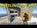 The Fight For Both Of My Neighbours Decaying Bases - Rust Solo Survival Gameplay