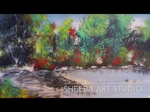 How to paint a forest with acrylics for beginners – Qatar