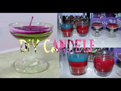 Diy candele profumate colorate fatte in casa youtube - Candele fatte in casa ...