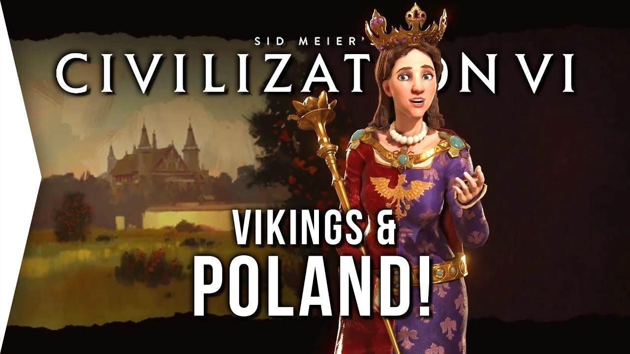 Civilization VI ► Poland Can Into Civ 6! - [Vikings & Winter 2016 Update]