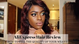AliExpress Hair Review | How To Tell The Quality of Your Weave | South African YouTuber | Ubi