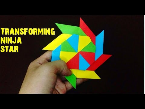 How To Make a Paper Transforming Ninja Star - Origami ... - photo#38