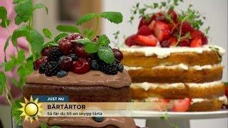 Bärtårtor som kombinerar udda smaker - Nyhetsmorgon (TV4)