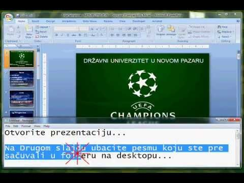 arrivo metà prezzo prese di fabbrica Kako Ubaciti Pesmu u Power Pointu 2007 - YouTube