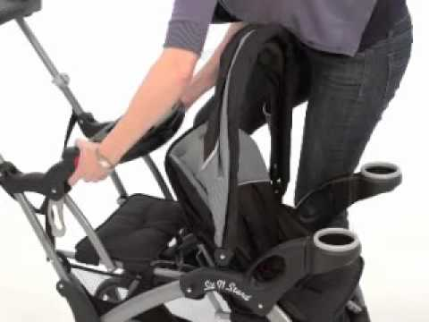 Baby Trend Sit N Stand Ultra Granite Ss66070 Youtube