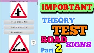 THEORY TEST  PRACTICE     ROAD SIGNS REVISION