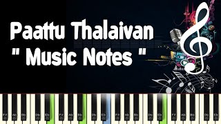 Paatu Thalaivan (idhaya koyil) /Piano Notes /Midi File /Karaoke