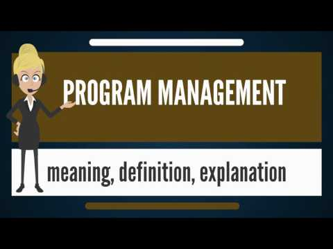 What is PROGRAM MANAGEMENT? What does PROGRAM MANAGEMENT mean?