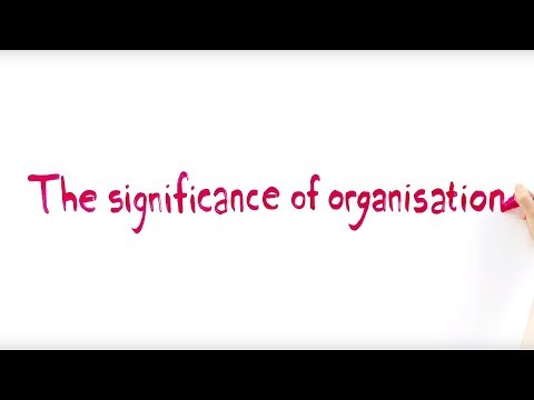 The Significance of Organisation