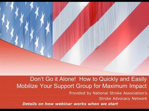 Advocacy Tips for Your Stroke Support Group