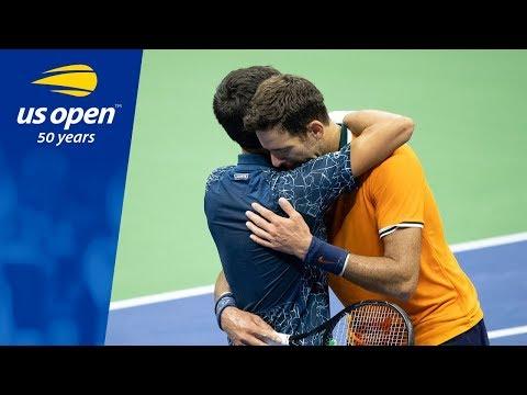 2018 US Open Championship Point: Novak Djokovic vs Juan Martin del Potro