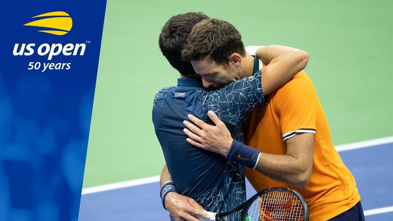 2018 Us Open Championship Point Novak Djokovic Vs Juan Martin Del Potro Youtube