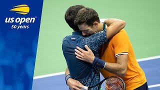 2018 US Open Championship Point: Novak Djokovic vs Juan Martin del Potro