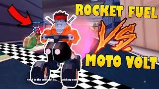 ROCKET FUEL vs MOTO VOLT !! Test SPEED à JAILBREAK ! (Roblox)