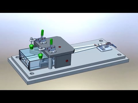 Manual Drill Jig Concept Animation In Solidworks