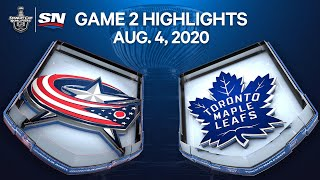 NHL Highlights | Blue Jackets vs. Maple Leafs, Game 2 – Aug. 4, 2020