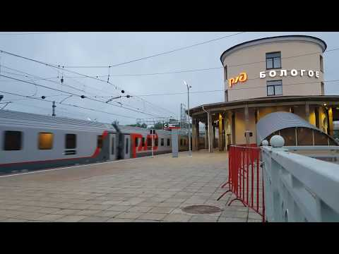 Поезд № 27 Санкт-Петербург - Москва по станции Бологое