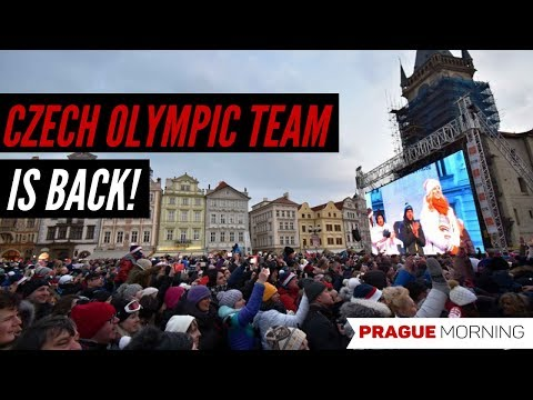 Celebration on Old Town Square for Czech Olympics Team